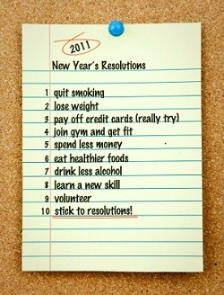 Sticking to 2011 Resolutions