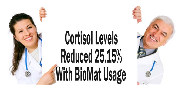 cortisol levels reduced with biomat